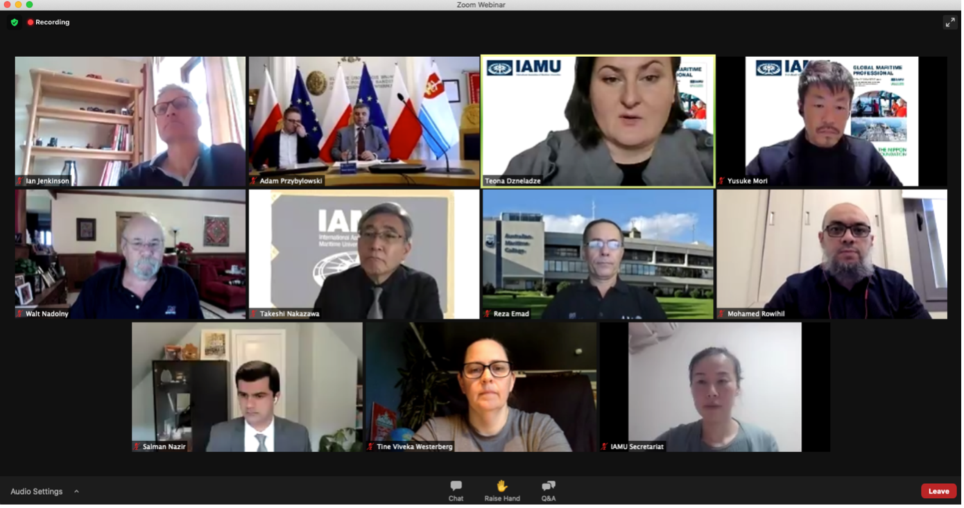 "COAST pitched in at the IAMU Webinar on ""Future competencies for seafarer"""